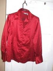 red blouse,  very nice (plus size)