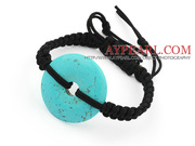 Simple Design Donut Shape Turquoise Bracelet
