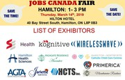 FREE: Hamilton Job Fair - March 14th,  2019