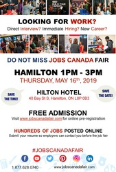 Hamilton Job Fair – May 16th,  2019